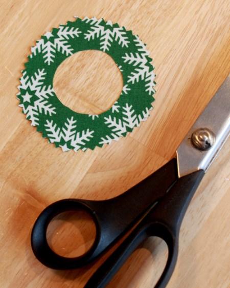 Burlap Christmas ornaments 9