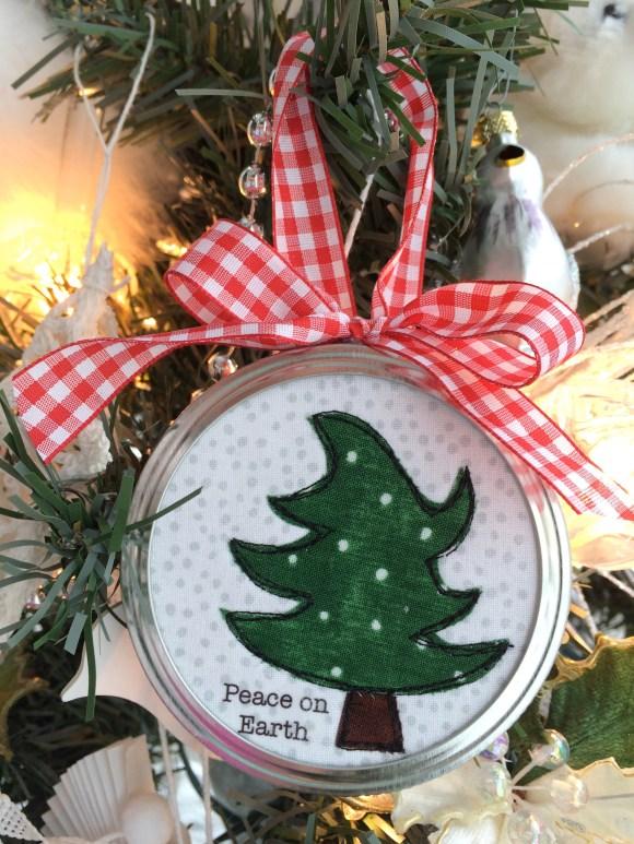 christmas tree applique ornament 7