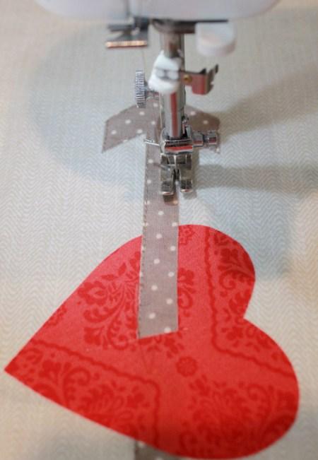 heart arrow pillow