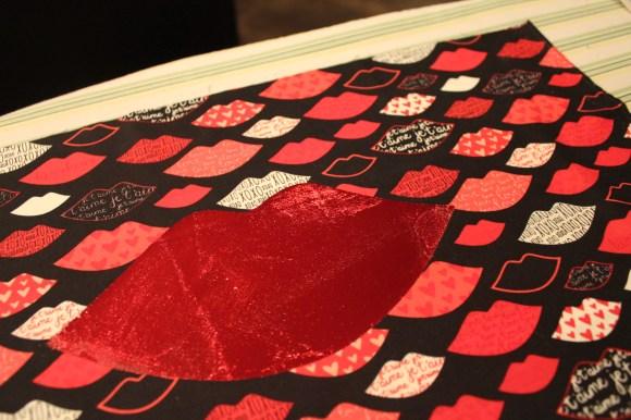 HeatnBond DecoFoil Kissy Lip Pillow