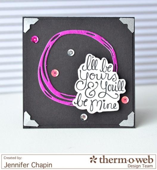 decofoils foils valentine card thermoweb icraft