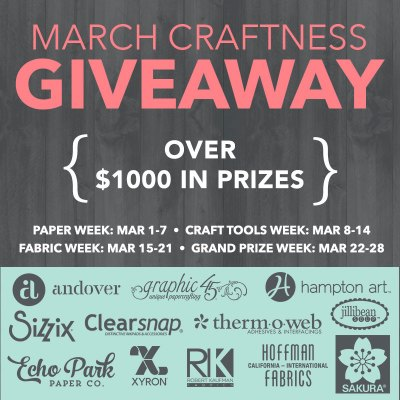 Sizzix National Craft Month Giveaway Therm O Web