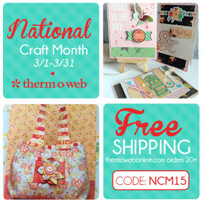 Natoinal Craft Month ThermOWeb Sale