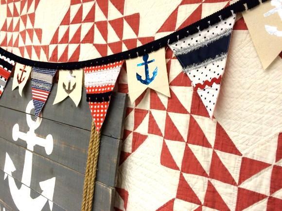 riley blake nautical banner deco foils 105