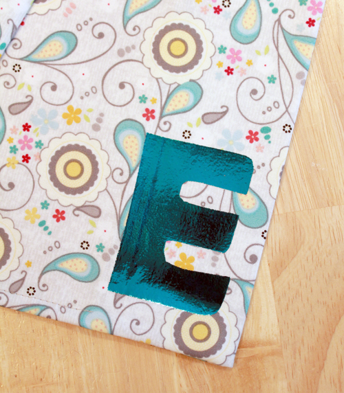 Personalized Notebook with Foil letter 9