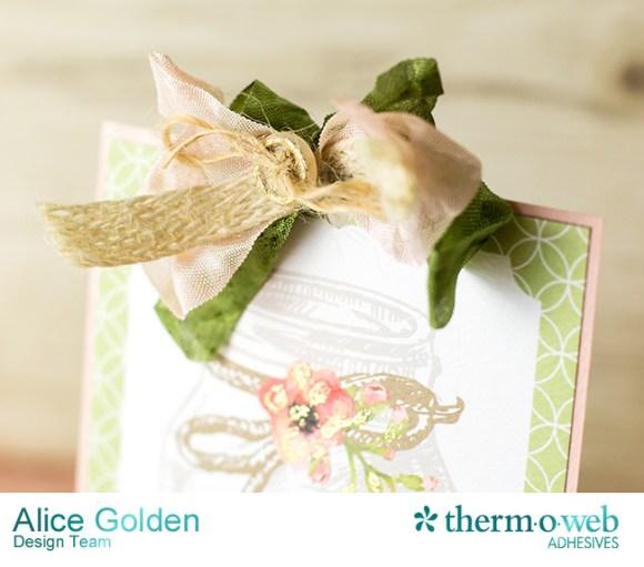 Alice Golden DecoFoil Rustic Elegance Wedding Gift Card Holder 12