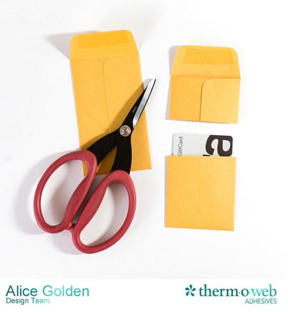 Alice Golden DecoFoil Rustic Elegance Wedding Gift Card Holder 9