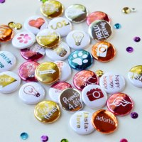 Create Your Own Deco Foil Buttons!