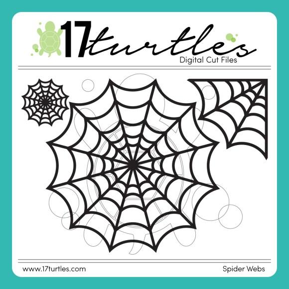 Spider Webs Free Digital Cut File by Juliana Michaels 17turtles