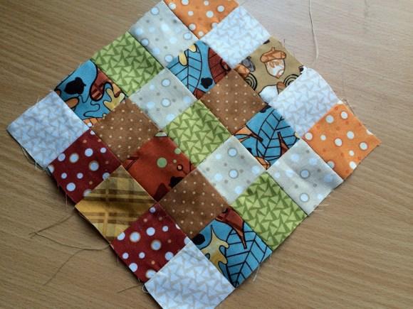 patchwork acorn potholder 8