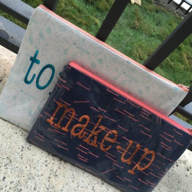 Deco foil Iron On Vinyl Makeup Bags