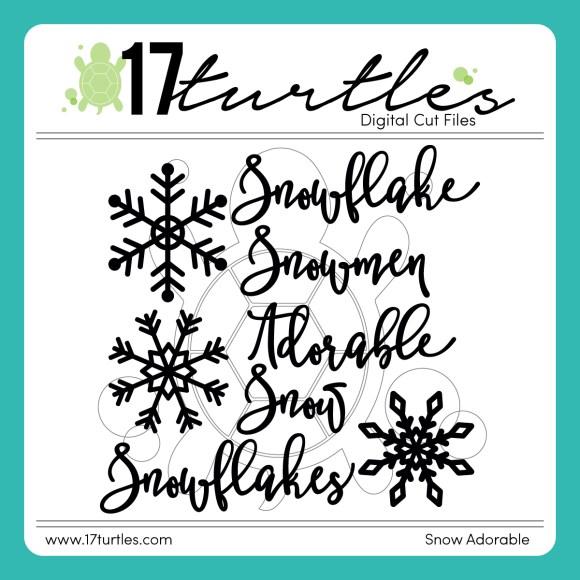Snow Adorable Free Digital Cut File by Juliana Michaels 17turtles