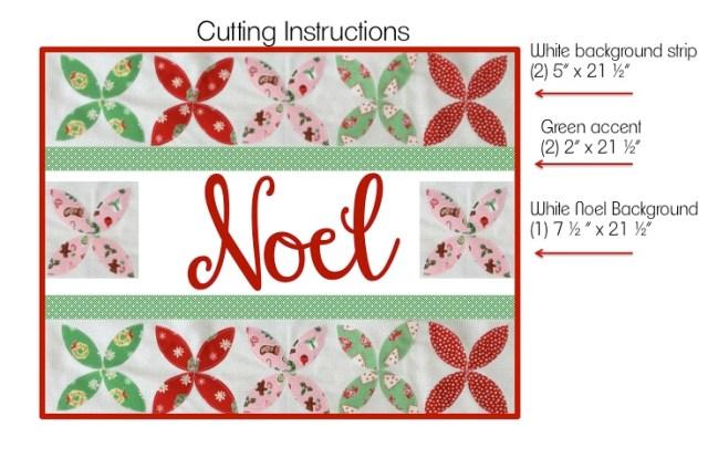 noel cutting instructions