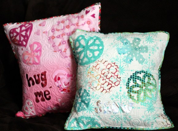 Heart and Snowflake PIllows