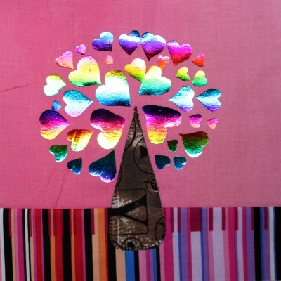 Hearts of Foil Tree Block