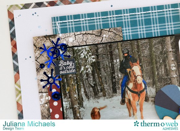 Snow Much Fun Scrapbook Page by Juliana Michaels featuring Therm O Web Deco Foil, Peel N Stick Toner Sheets and Adhesives www.thermoweb.com