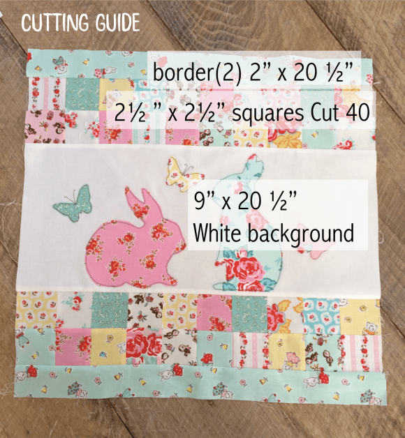 bunny pillow cutting guide
