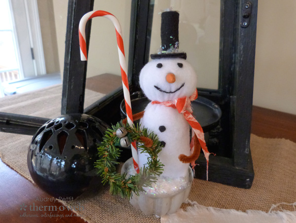 Holiday Snowman Made with Therm O Web Stitch n' Sew Fleece