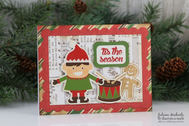 Christmas Cards by Juliana Michaels featuring Therm O Web Mixed Media Adhesive and Glitter