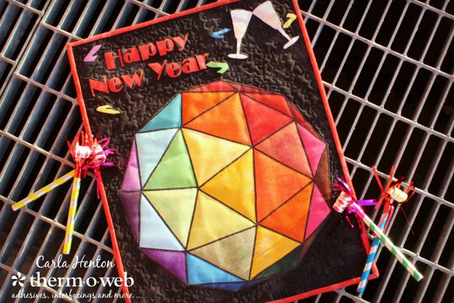 Let the Ball Drop Mini Quilt by Carla Henton