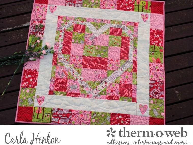 Loved Pieced Quilt by Carla Henton Featuring HeatnBond