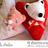 Sew A Cozy Teddy Bear Heart Pocket Pillow