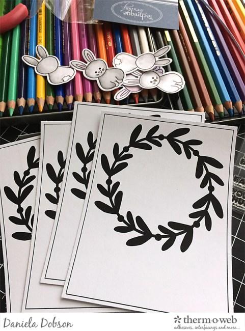 Foiled cards step 1 by Daniela Dobson