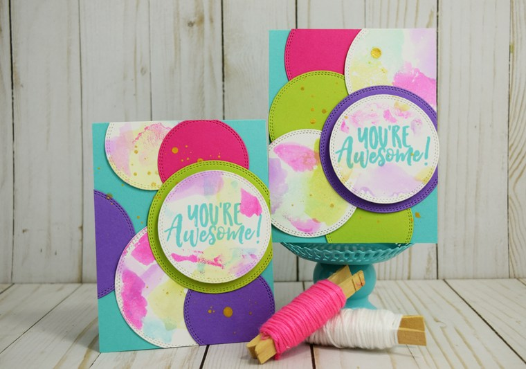 You're Awesome card set created by @jbckadams for @thermoweb #thermoweb #ginakdesigns #cardmaking #handmadecard