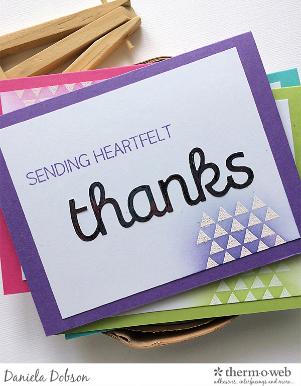 Thank you card set close 4 by Daniela Dobson