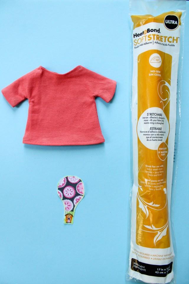 Heat N Bond Soft Stretch Appliqued Doll T-Shirt-3