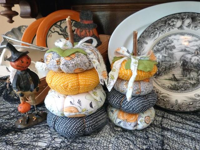 Audrey Pettit Fabric Stacked Pumpkins