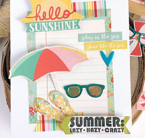Hello Sunshine Deco Foil Sunglass Card
