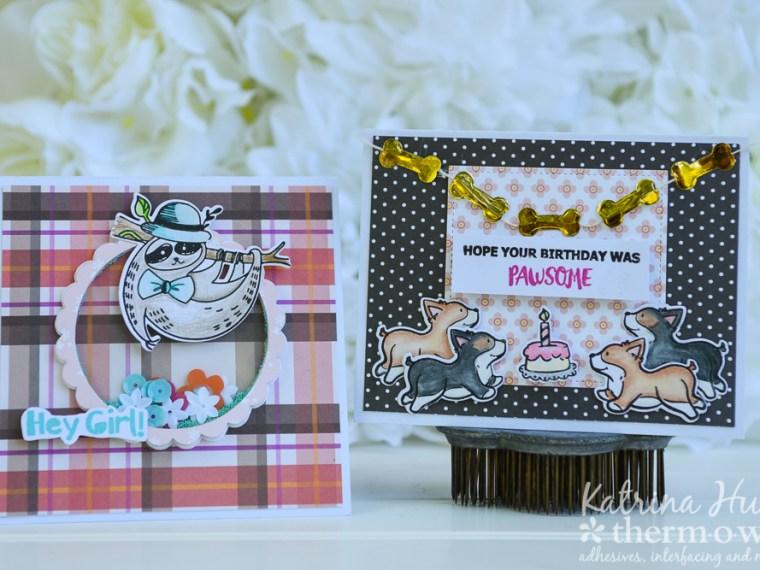 Waffle Flower Fun Animal Theme Cards