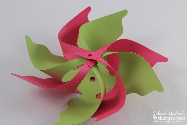 Pinwheel Straw Tutorial by Juliana Michaels featuring Gina K Designs Cardstock and Therm O Web Deco Foil and Adhesives