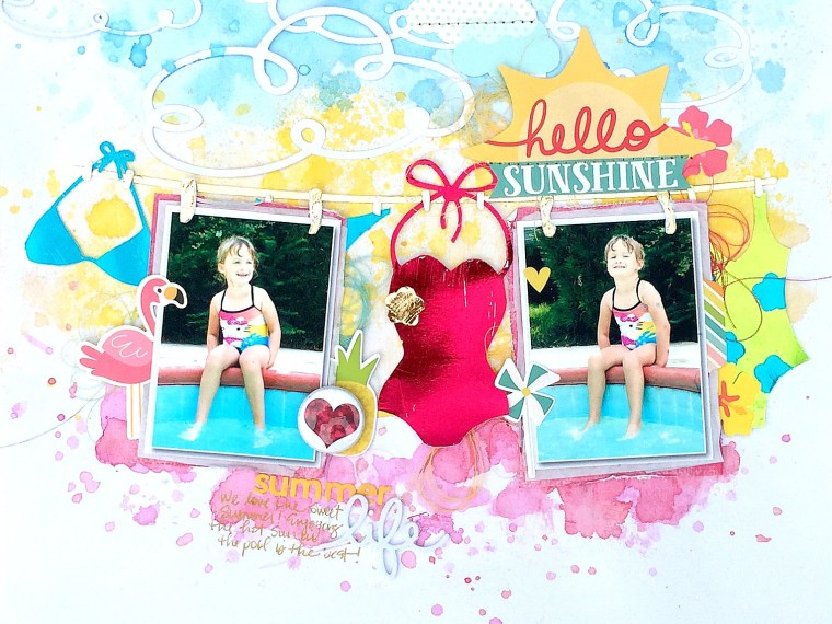 Summer Life Layout by Missy Whidden