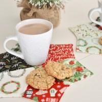 Christmas Mug Rug Featuring Heat n Bond Fusible Fleece