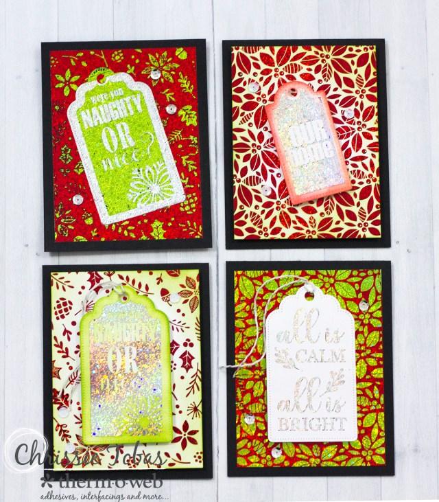 Four Christmas Cards_ChrissieTobas WM