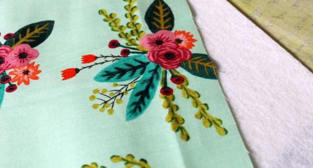 two fabrics and fusible fleece