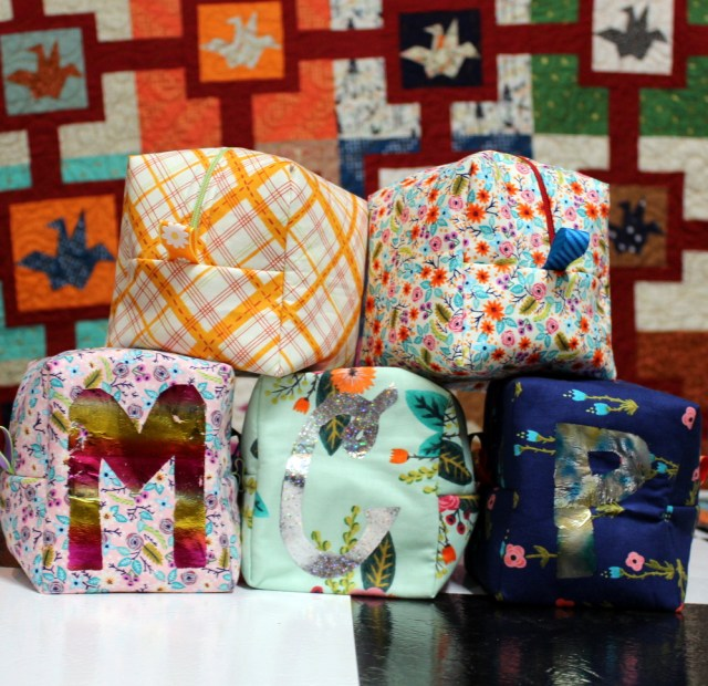 five chunky wee zippy pouches