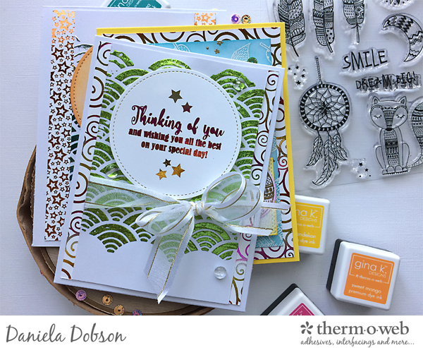Brutus card set for Therm O Web by Daniela Dobson