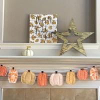 Colorful Fabric Fall Pumpkin Banner