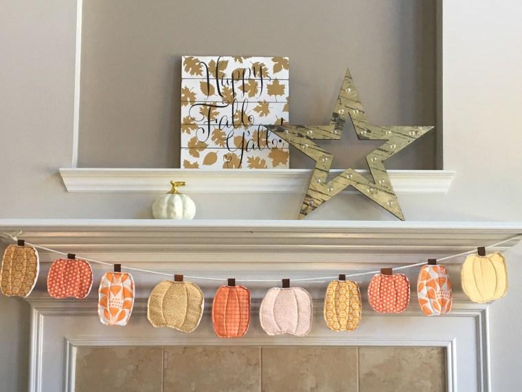 Fall Fabric Pumpkin Banner