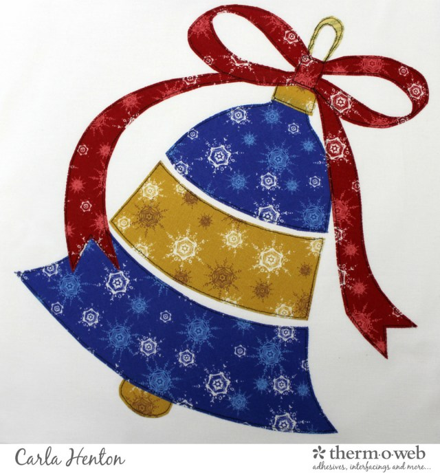 Christmas Bell Ornament Quilt Block Series for Thermoweb with Windham fabrics by Carla at Creatin' in the Sticks