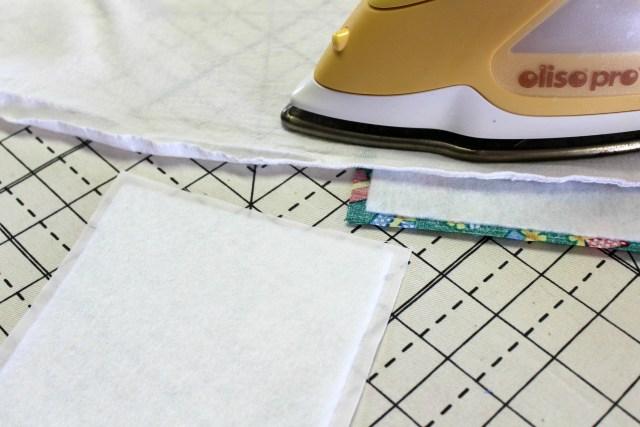 fusing fleece to fabrics for keepsake ornament handprint by carla at creatin' in the sticks