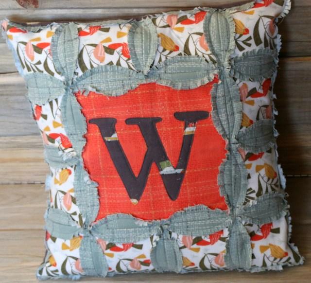 Dear Stella Winter Monogram Pillow Amy Warner 1