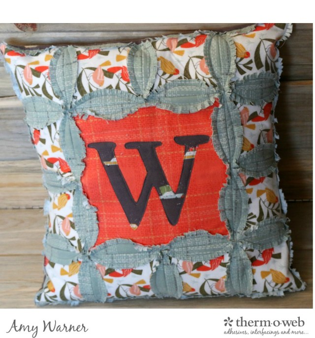 Dear Stella Winter Monogram Pillow Amy Warner 11