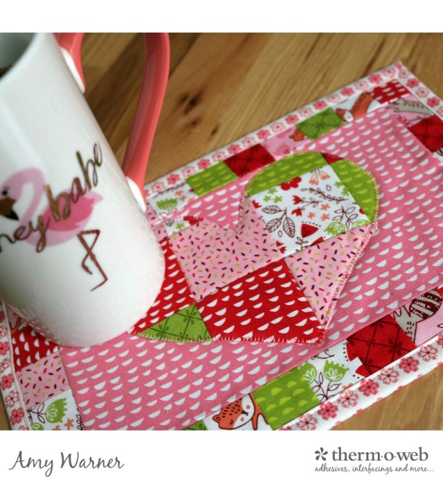 Patchwork Heart Mug Rug Amy Warner 8