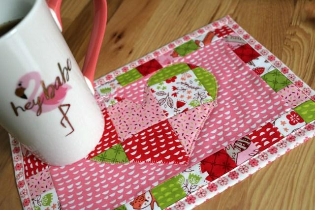 Patchwork Heart Mug Rug Amy Warner