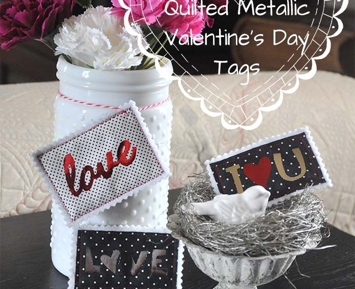 Quilted Deco Foil Valentine's Day Tags