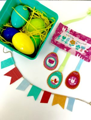 Easter Egg Spring Banner Bunting with Moda Fabric and HeatnBond Fusible Fleece